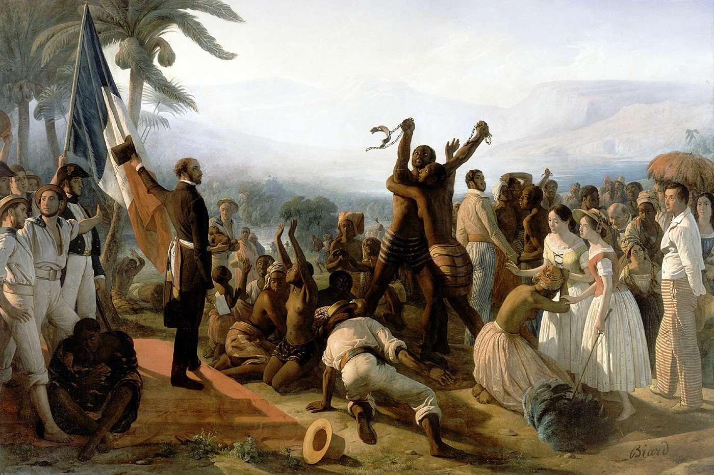 """""""Abolition de l'esclavage"""" par François-Auguste Biard (1849)"""